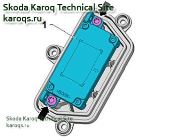Снятие и установка светодиодного модуля для дневного света Skoda Karoq