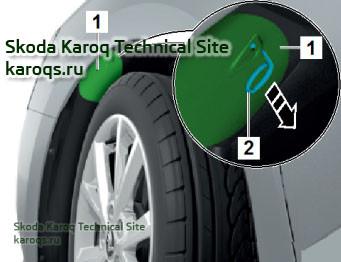 Снятие и установка противотуманной фары L22 / L23 Skoda Karoq