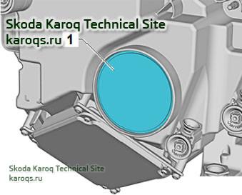 Снятие и установка мотора регулировки дальности света фар V48 / V49 Skoda Karoq