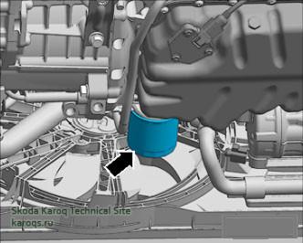 Замена масляного фильтра - бензиновые двигатели Шкода Карок