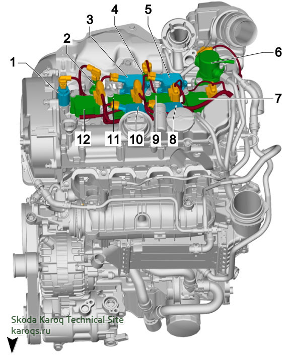 1.5 l petrol engine, DADA, from above