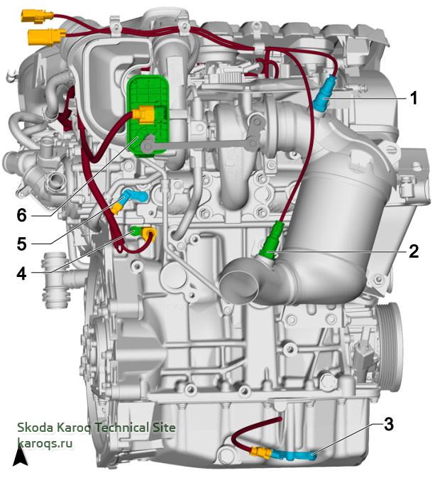 1.5 l petrol engine, DADA, from behind