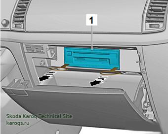 Снятие и установка блока управления электроники информирования J794