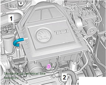 Замена воздушного фильтра на двигателе Шкода Карок