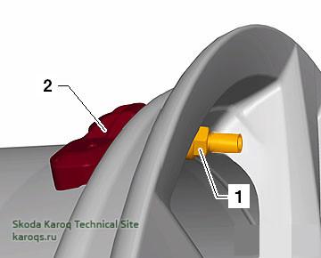 Снятие и установка датчиков давления в шинах