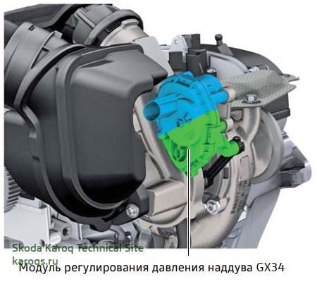 Модуль регулирования давления наддува GX34