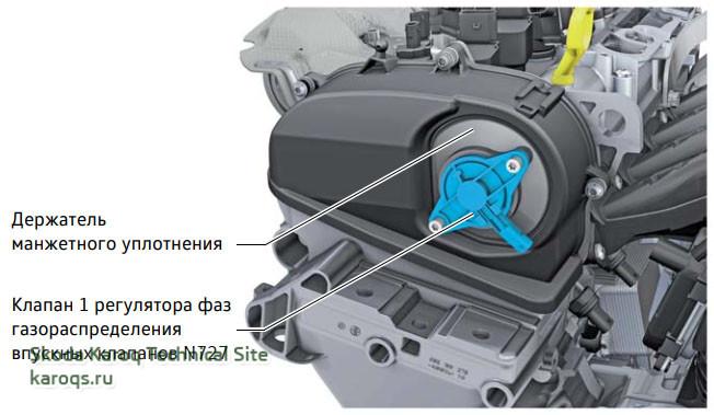 Клапан 1 регулятора фаз газораспределения впускных клапанов N727